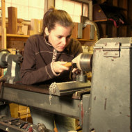 Photo of Louise Hibbert at work