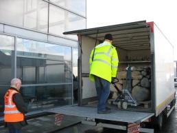 Brendan and Sean unloading
