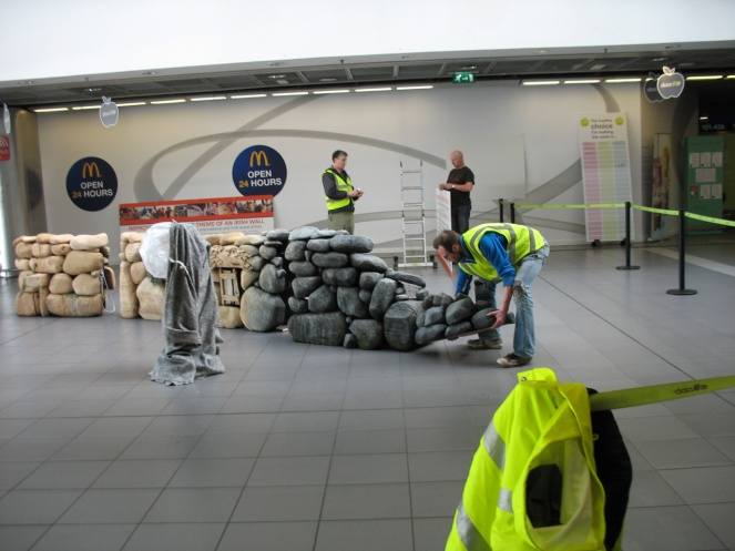 Installing the Wall at Dublin airport