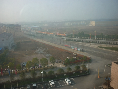 smog from the hotel