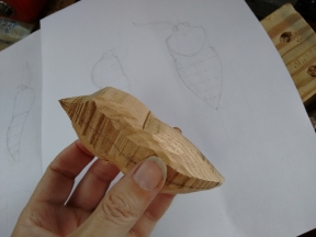 moth body with scale drawing