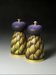 Louise Hibbert Artichoke Salt and Pepper Mills 3